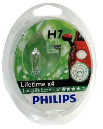 Галогенная автомобильная лампа Philips LongLife EcoVision H7 12V-55W увелич. срок службы 2шт. 12972LLECOS2 галогеновая лампа philips h7 longerlife ecovision 12v 55w