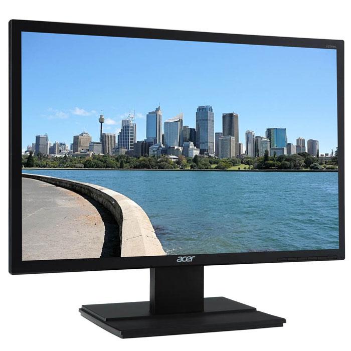 Acer V246HLBMD, Black мониторUM.FV6EE.006Купить ЖК монитор Acer V246HLbmd - значит стать обладателем превосходного инструмента для компьютерныхигр, который благодаря быстрой TN матрице с малым временем отклика в 5 мс обеспечит плавный геймплей иотсутствие эффекта размытости движущихся объектов в динамичных играх. Широкоформатный LCD монитор AcerV246HLbmd оснащен экраном диагональю 24 дюйма формата 16:9 с разрешением 1920 x 1080 пикселей, матовоепокрытие которого предотвращает появление бликов, за счет чего вам ничто не сможет помешать работать ииграть даже при ярком свете солнца. Встроенные колонки позволят сэкономить на покупке внешней акустическойсистемы, а с помощью дополнительно приобретаемого кронштейна VESA вам не составит никакого трудазакрепить ЖК монитор Acer V246HLbmd на стене. Доступная цена делает LCD монитор Acer V246HLbmd желанным ивыгодным приобретением.