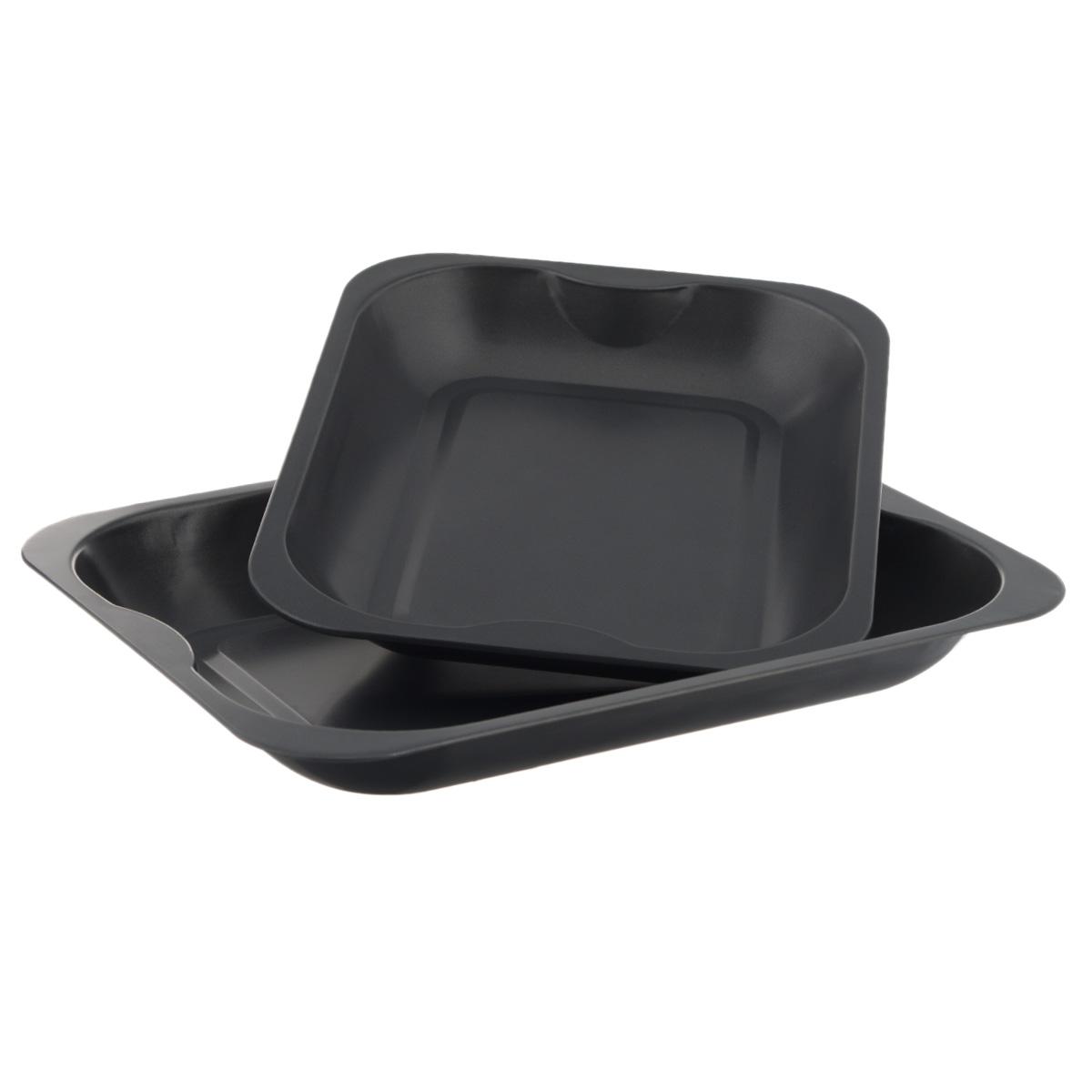Набор противней Mayer & Boch, с антипригарным покрытием, прямоугольные, 2 шт21919Набор Mayer & Boch состоит из двух противней разного размера. Противни изготовлены из углеродистой стали с антипригарным покрытием, благодаря чему пища не пригорает и не прилипает к стенкам посуды. Кроме того, готовить можно с добавлением минимального количества масла и жиров. Антипригарное покрытие также обеспечивает легкость мытья. Внутренние боковые стенки ровные. Подходит для использования в духовом шкафу. Не подходит для СВЧ-печей. Рекомендуется ручная чистка. Используйте только деревянные и пластиковые лопатки. Размер малого противня (ДхШхВ): 32 см х 26 см х 4 см.Размер большого противня (ДхШхВ): 38,5 см х 30 см х 4,5 см.