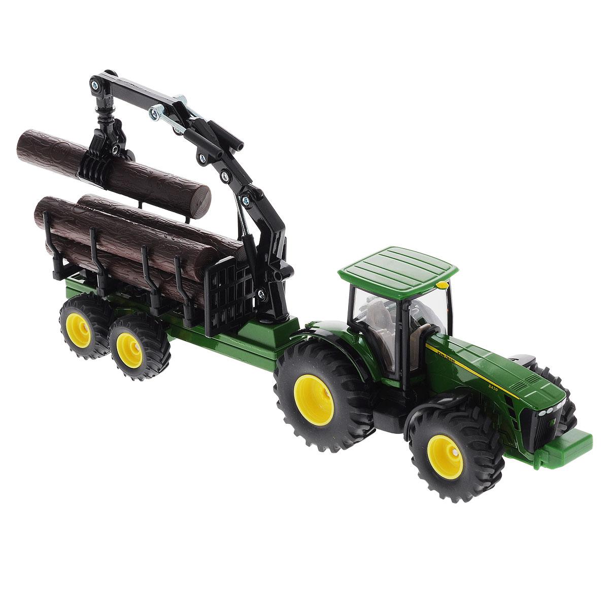 Siku Трактор-лесовоз John Deere 8430 машины tomy трактор john deere monster treads с большими резиновыми колесами
