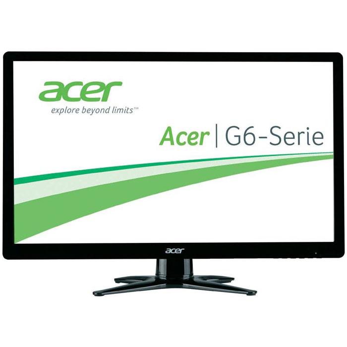 Acer G246HYLBID, Black мониторUM.QG6EE.009Acer G246HYLBID - монитор с диагональю 23,8 дюйма, обрамленный тонкой черной рамкой. Экран построен на основеIPS-матрицы, имеет разрешение 1920 х 1080. Эти характеристики позволяют воспроизводить яркое и чистоеизображение без пикселизации и потери резкости при просмотре под углом. Матовое покрытие избавляет отбликов. Данная модель обеспечивает качественное проигрывание динамичных сцен в видеороликах и фильмах.Подставка монитора обладает подвижной конструкцией для регулировки наклона.