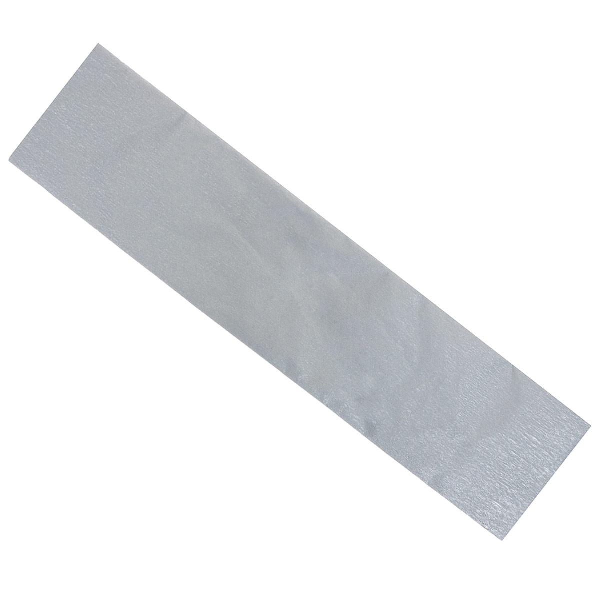 Крепированная бумага Hatber, металлизированная, цвет: серебристый, 5 см х 25 смБк2мт_00026Цветная металлизированная бумага Hatber - отличный вариант для развития творчества вашего ребенка. Бумага с фактурным покрытием очень гибкая и мягкая, из нее можно создавать чудесные аппликации, игрушки, подарки и объемные поделки.Цветная металлизированная бумага Hatber способствует развитию фантазии, цветовосприятия и мелкой моторики рук.Размер бумаги - 5 см х 25 см.