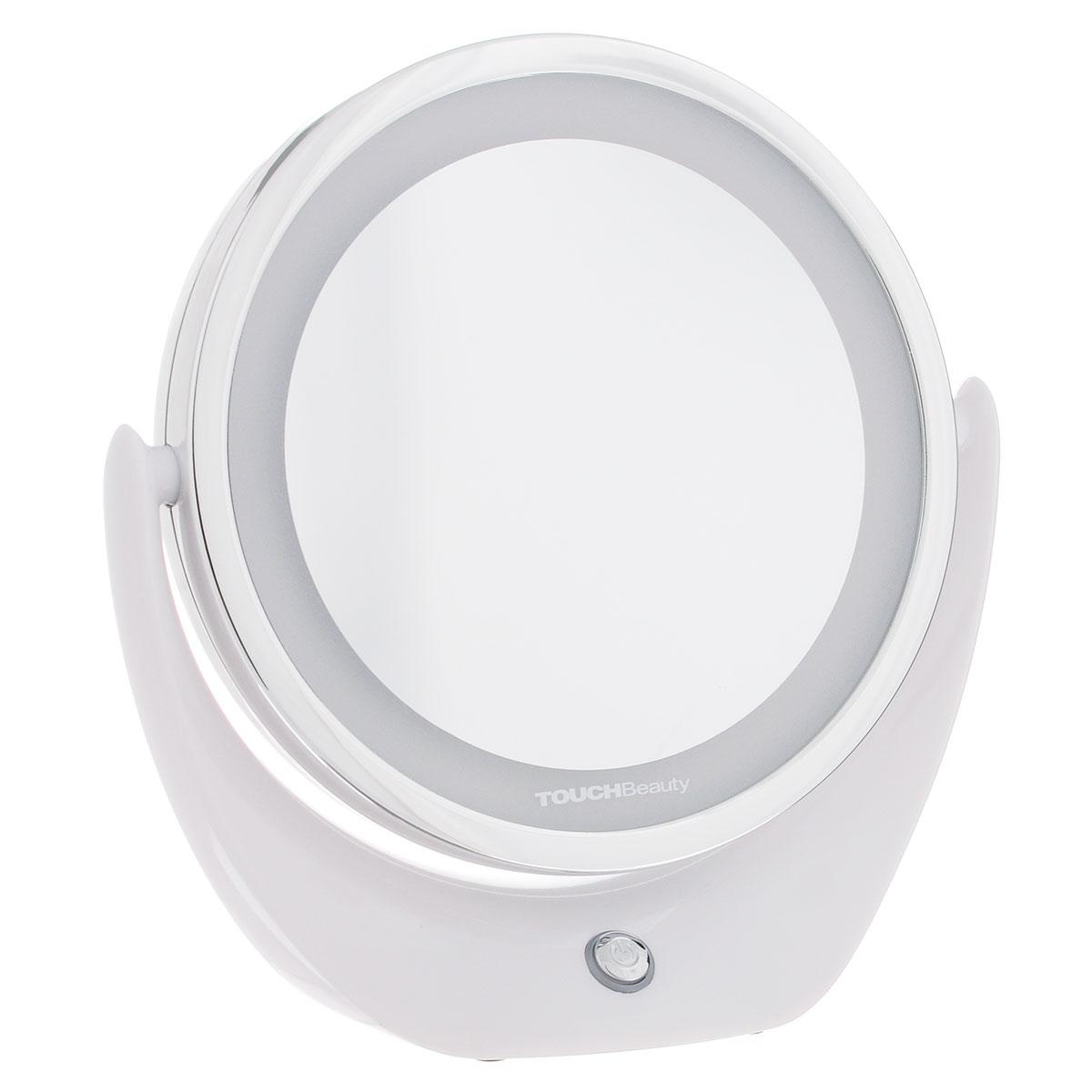 Touchbeauty Настольное двойное зеркало, с подсветкой. AS-1276AS-1276Двустороннее косметическое зеркало со светодиодной подсветкой. Пятикратное увеличение одной из сторон и светодиодная равномерная подсветка создает удобство при уходе за лицом. Компактные размеры зеркала не стесняют пространство. Вращается на 360°. Стильный дизайн. Подсветка работает от USB (USB-провод в комплекте).Товар сертифицирован.