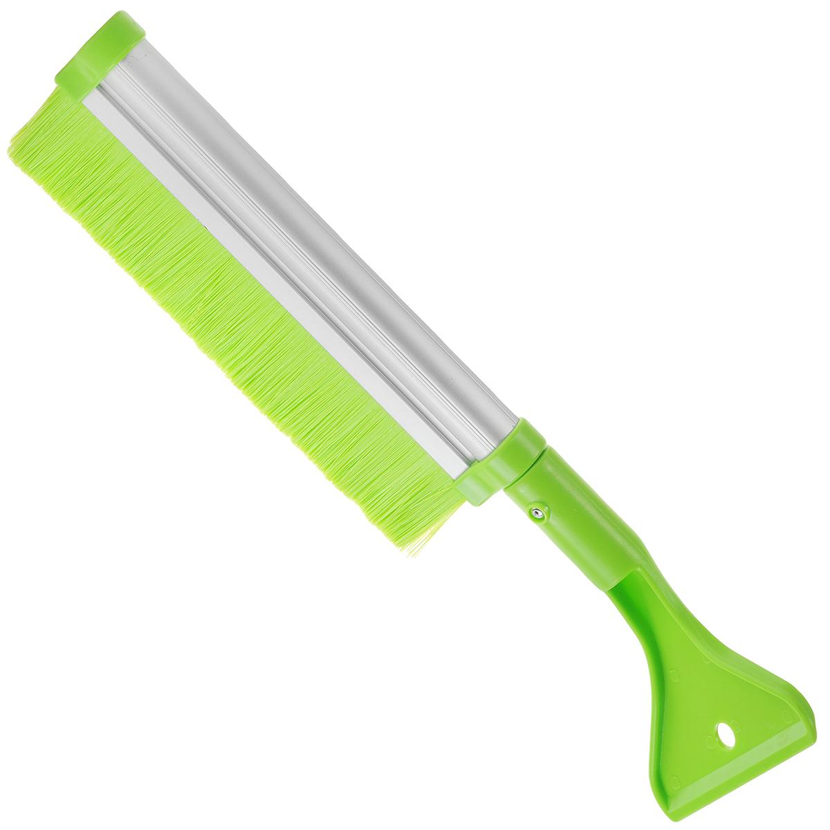 Щетка для снега Sapfire, со скребком и телескопической ручкой, цвет: салатовый, 42-64 см0411-SBUЩетка Sapfire предназначена для удаления снега и льда. Имеет легкую поворотную телескопическую рукоятку из прочного алюминиевого сплава. Удобная выдвижная рукоятка облегчает процесс чистки крыши автомобиля. Мягкая щетина, изготовленная из прочного полимера, бережно удаляет снег, не царапая лакокрасочное покрытие. Щетка оснащена мощным скребком с зубьями для толстого льда.Ширина скребка: 9,5 см.Длина рабочей части щетки: 25,5 см.Максимальная длина щетки: 64 см.Минимальная длина щетки: 42 см.