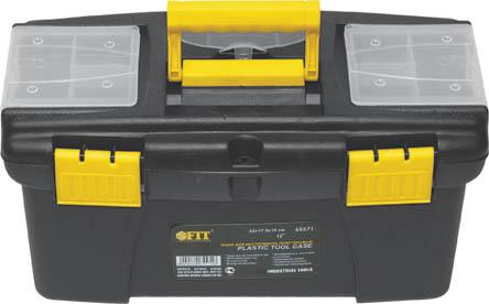 Ящик для инструментов пластиковый FIT, 41 х 22 х 19,5 см65572Ящик FIT 65572 используется для централизованного хранения крепежа, различного инструмента и расходных материалов. Данная модель обладает прочной конструкцией. Также, ящик FIT 65572 оснащен тремя органайзерами с крышками для хранения мелких деталей и имеет подвижной лоток.