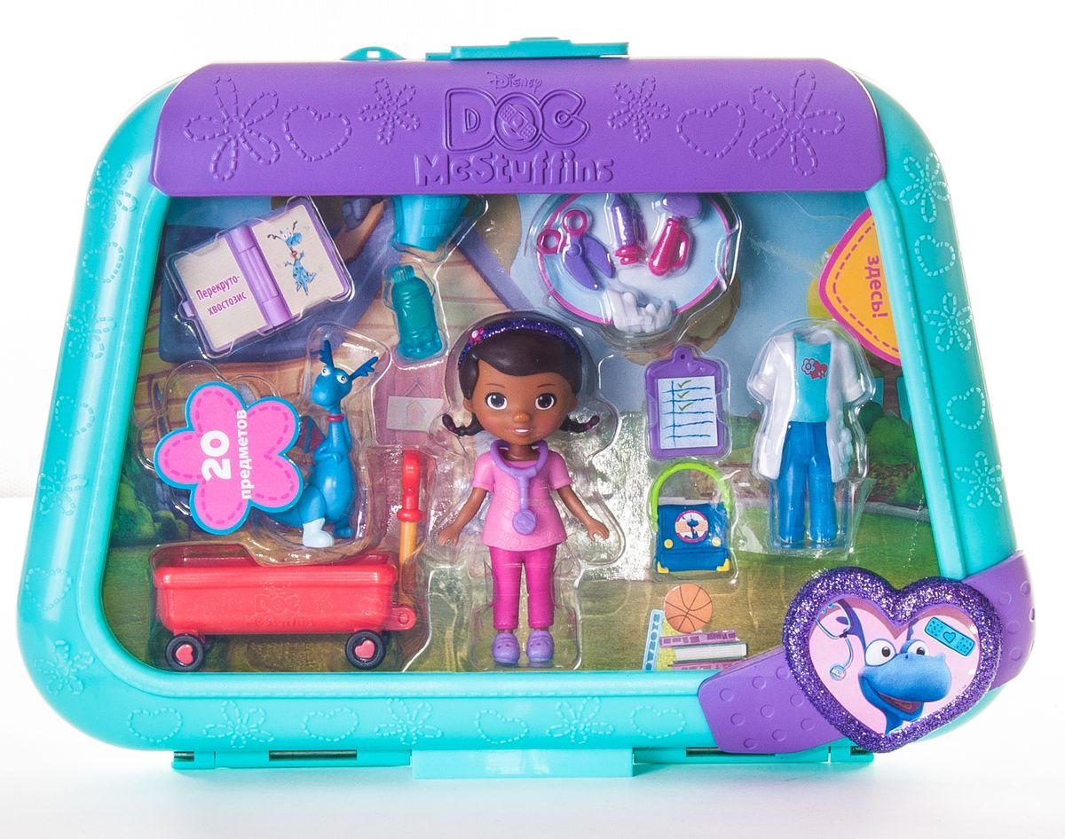Игровой набор Доктор Плюшева, цвет: бирюзовый, фиолетовый лего дупло 10606 доктор плюшева клиника во дворе