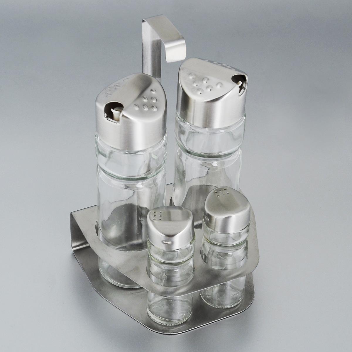Набор для специй Bekker, 5 предметов. BK-3097BK-3097Набор для специй Bekker состоит из солонки, перечницы, двух дозаторов для масла и уксуса и подставки. Емкости выполнены из стекла и оснащены металлическими крышками. В комплекте имеется подставка из нержавеющей стали с матовой полировкой. Такой набор стильно украсит кухонный стол, а благодаря качеству материалов и высококлассной обработке прослужит долгие годы.Высота солонки/перечницы: 9 см. Диаметр солонки/перечницы: 3 см. Объем дозаторов: 150 мл. Высота дозаторов: 16 см. Диаметр дозаторов: 5 см. Размер подставки (ДхШхВ): 12,5 см х 11 см х 19,5 см. Высота солонки/перечницы: 9 см. Диаметр солонки/перечницы: 3 см. Объем дозаторов: 150 мл. Высота дозаторов: 16 см. Диаметр дозаторов: 5 см. Размер подставки (ДхШхВ): 12,5 см х 11 см х 19,5 см.