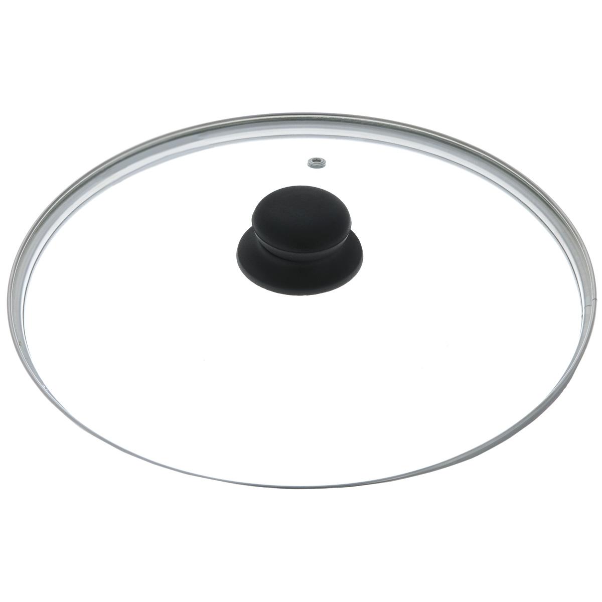 Крышка стеклянная, диаметр 28 см4628нКрышка изготовлена из термостойкого стекла. Обод, выполненный из высококачественной нержавеющей стали, защищает крышку от повреждений, а ручка, выполненная из термостойкого пластика, защищает ваши руки от высоких температур. Изделие оснащено пароотводом. Крышка удобна в использовании и позволяет контролировать процесс приготовления пищи без потери тепла.Можно мыть в посудомоечной машине.