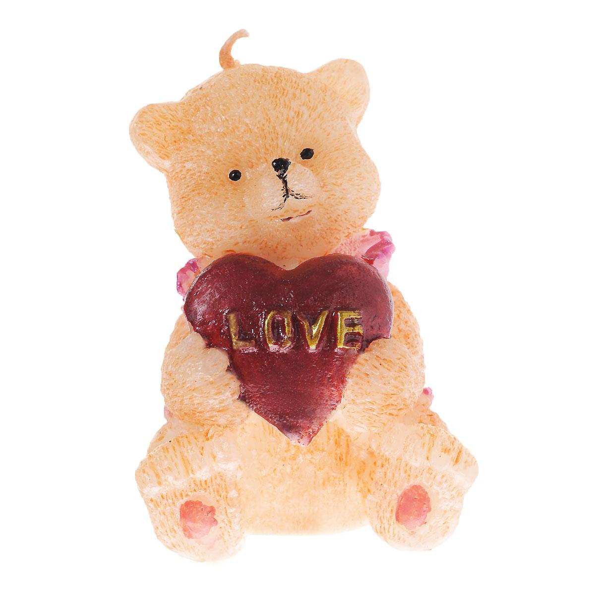Свеча декоративная Home Queen Мишка. 6043060430Свеча декоративная Home Queen Мишка отличный подарок, подчеркивающий яркую индивидуальность того, кому он предназначается. Изделие выполнено из парафина в виде медвежонка держащего сердечко. Такая свеча украсит интерьер вашего дома или офиса. Оригинальный дизайн и красочное исполнение создадут отличное настроение.