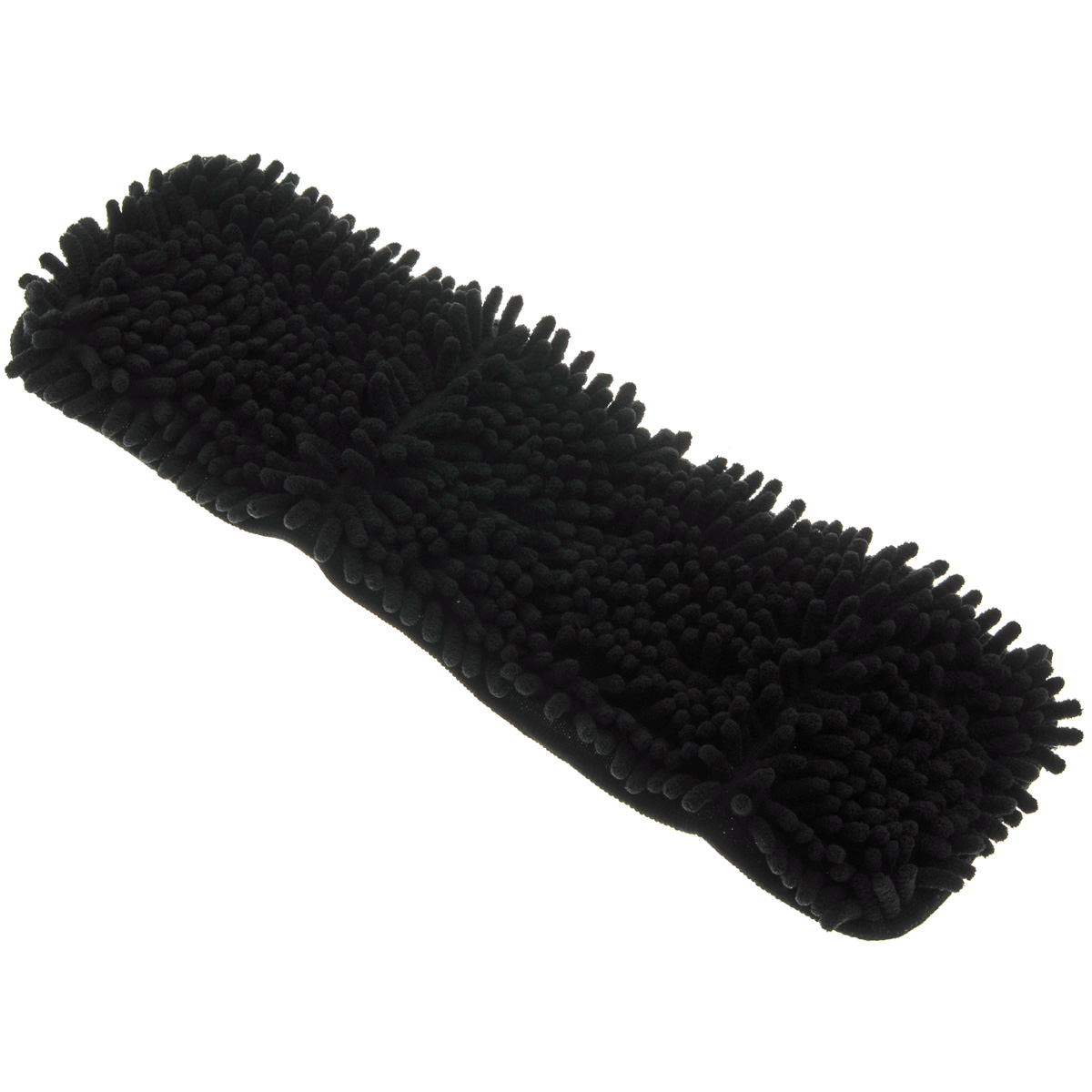 Насадка для швабры-полотера Libman, цвет: черный, 40 х 14 см01011Насадка для швабры-полотера Libman прекрасно моет и полирует различные напольные покрытия: дерево и ламинат, винил, кафельную плитку. Мягкие микрофибровые пальчики эффективно собирают пыль и аллергены. Подходит для сухой и влажной уборки. Задняя сторона насадки на липучке, поэтому она легко крепится к швабре-полотеру. Размер насадки: 40 см х 14 см.