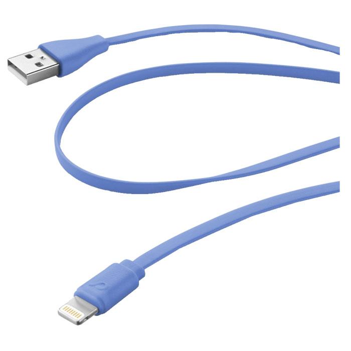 Cellular Line USB Data Cable Color дата-кабель для iPhone/iPad/iPod, Blue (20606)USBDATACFLMFIIPH5BВам нравится красочные аксессуары? Выберите один из не спутывающихся плоских кабелей Cellular Line в вашем любимом цвете! Более того, специальная мягкие на ощупь отделка делает их очень приятными на ощупь.