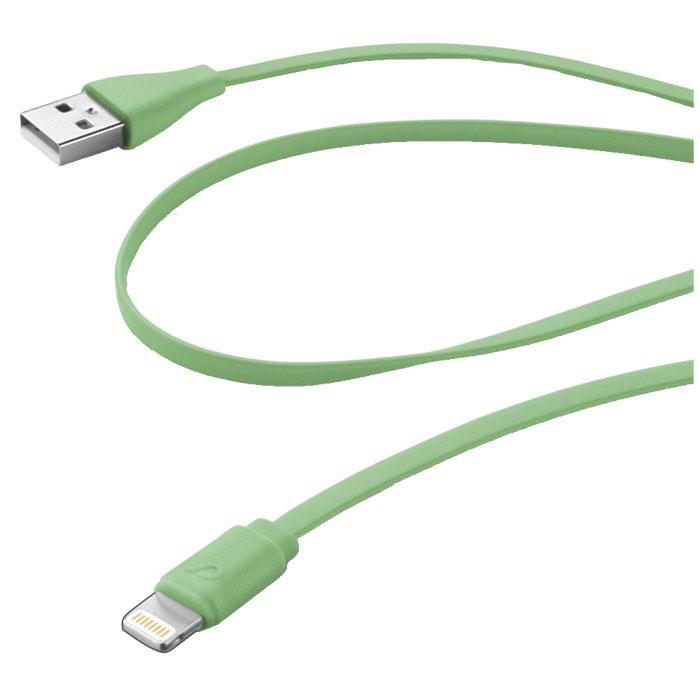 Cellular Line USB Data Cable Color дата-кабель для iPhone/iPad/iPod, Green (20607)USBDATACFLMFIIPH5GВам нравится красочные аксессуары? Выберите один из не спутывающихся плоских кабелей Cellular Line в вашем любимом цвете! Более того, специальная мягкие на ощупь отделка делает их очень приятными на ощупь.