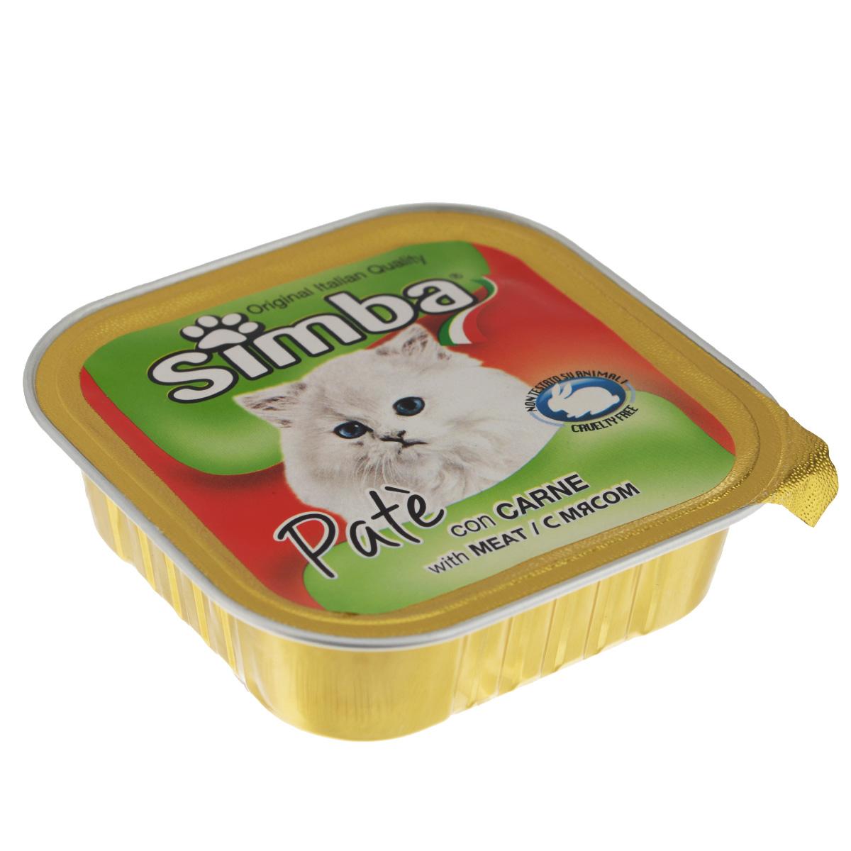 Консервы Monge Simba для взрослых кошек, паштет с мясом, 100 г70009218Консервы Monge Simba - полнорационный корм для взрослых кошек. Без добавления консервантов и антиоксидантов. Экологически чистое производство гарантирует высочайшее качество и длительные сроки хранения консервов. Тщательный отбор сырья и содержащийся в нем полный набор витаминов и микроэлементов обеспечивает отличную усвояемость и отсутствие проблем с пищеварением у ваших любимых питомцев. Состав: мясо и мясные субпродукты (6%), каррагенин, минеральные вещества, натуральные красители и вкусовые добавки.Пищевая ценность: протеин 8,0%, жир 7,5%, зола 2,1%, клетчатка 0,4%, влажность 82%. Добавки на кг: витамин А: 1 200; витамин D3: 160; витамин Е: 5 мг/кг.Товар сертифицирован.