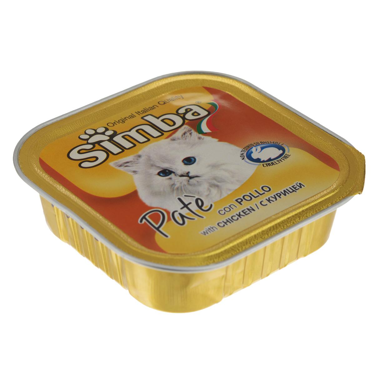 Консервы Monge Simba для взрослых кошек, паштет с курицей, 100 г70009225Консервы Monge Simba - полнорационный корм для взрослых кошек. Без добавления консервантов и антиоксидантов. Экологически чистое производство гарантирует высочайшее качество и длительные сроки хранения консервов. Тщательный отбор сырья и содержащийся в нем полный набор витаминов и микроэлементов обеспечивает отличную усвояемость и отсутствие проблем с пищеварением у ваших любимых питомцев. Состав: мясо и мясные субпродукты (мясо курицы 6%), каррагенин, минеральные вещества, натуральные красители и вкусовые добавки.Пищевая ценность: протеин 8,0%, жир 7,5%, зола 2,1%, клетчатка 0,4%, влажность 82%. Добавки на кг: витамин А: 1 200; витамин D3: 160; витамин Е: 5 мг/кг.Товар сертифицирован.