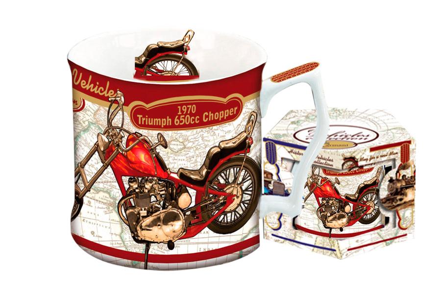 Кружка Carmani Мотоцикл Триумф 1970 г, 450 млCAR2-016-0006-ALКружка Carmani Мотоцикл Триумф 1970 г выполнена из высококачественного фарфора и оформлена красочным изображением мотоцикла. Такая кружка сделает чаепитие еще приятнее. Может послужить приятным и практичным сувениром. Объем: 450 мл.Диаметр кружки по верхнему краю: 9 см.Высота кружки: 9 см.
