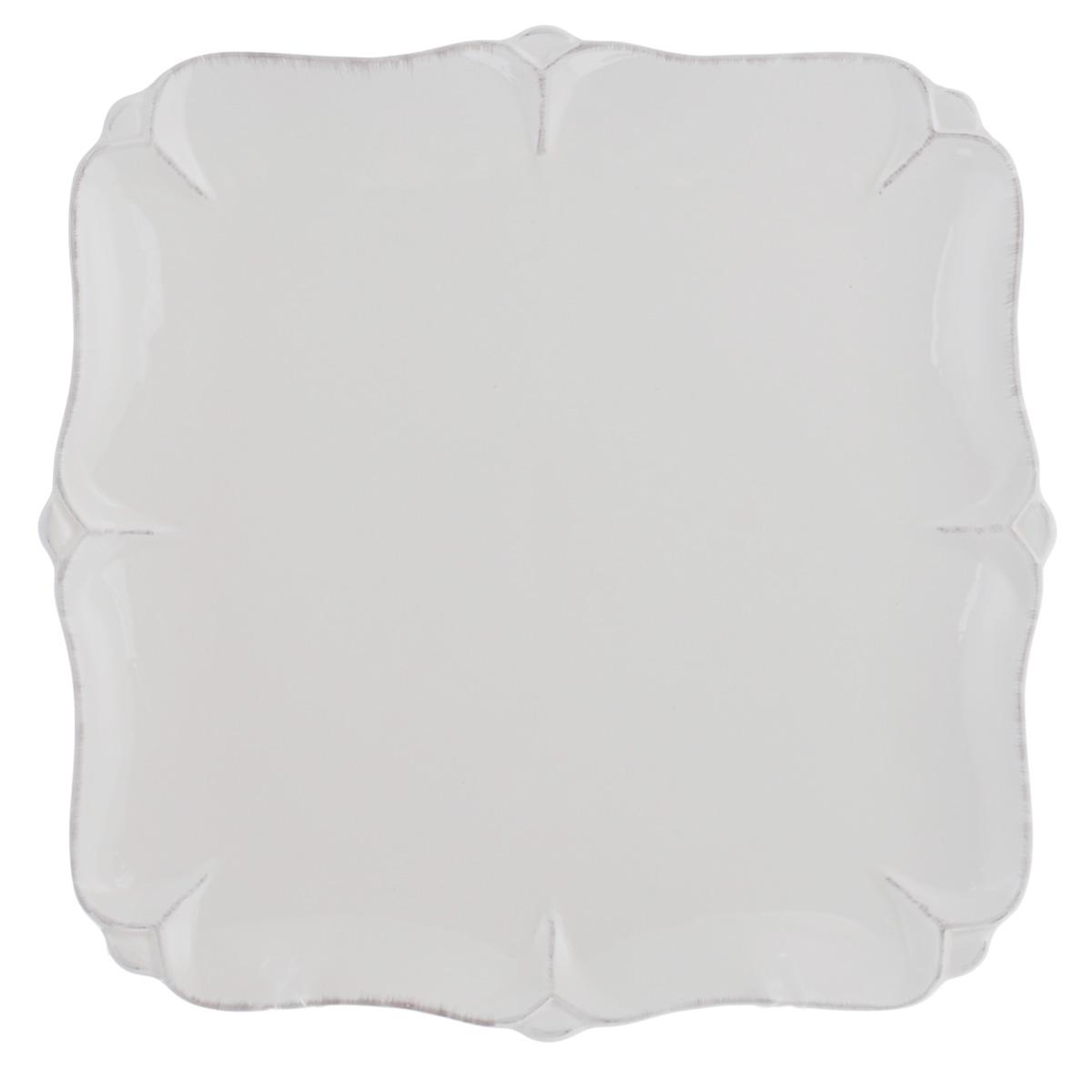 Тарелка Lillo Ideal, цвет: молочный, 25 см х 25 см тарелка под пасту 25 5 см royal porcelain тарелка под пасту 25 5 см