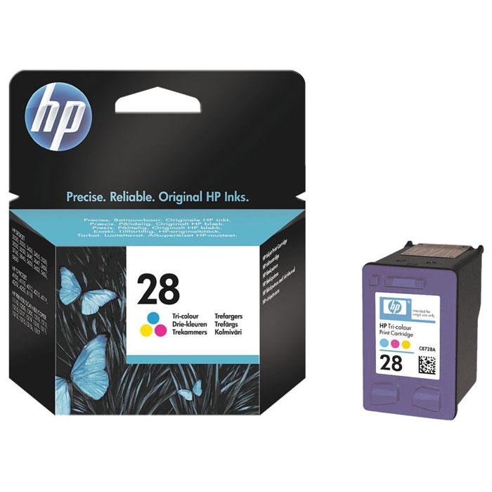 HP C8728AE (28) трехцветный струйный картриджC8728AEТрёхцветный струйный картридж HP 28 позволяет получать яркие долговременные распечатки фотографического качества благодаря применению запатентованных чернил на основе красителя, ориентированных на точное согласованное взаимодействие с вашей системой печати HP в целях достижения неизменно выдающихся результатов.Чернила на пигментной основеКонтроль уровня чернил