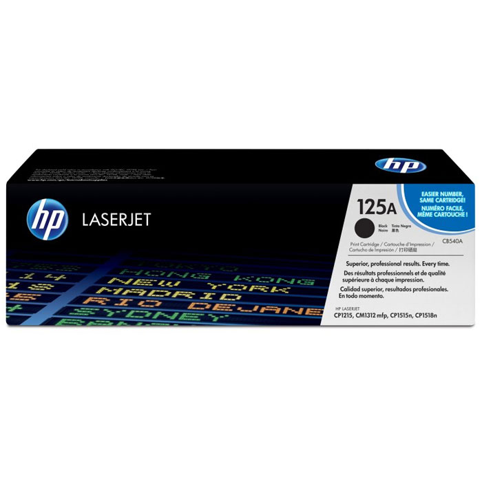 HP CB540A (125A) лазерный картридж для Color LaserJet CP1215/CP1515n/CM1312 replacement chip for hp laserjet cb540a print cartridge – black toner refill for hp1215 1515 1518