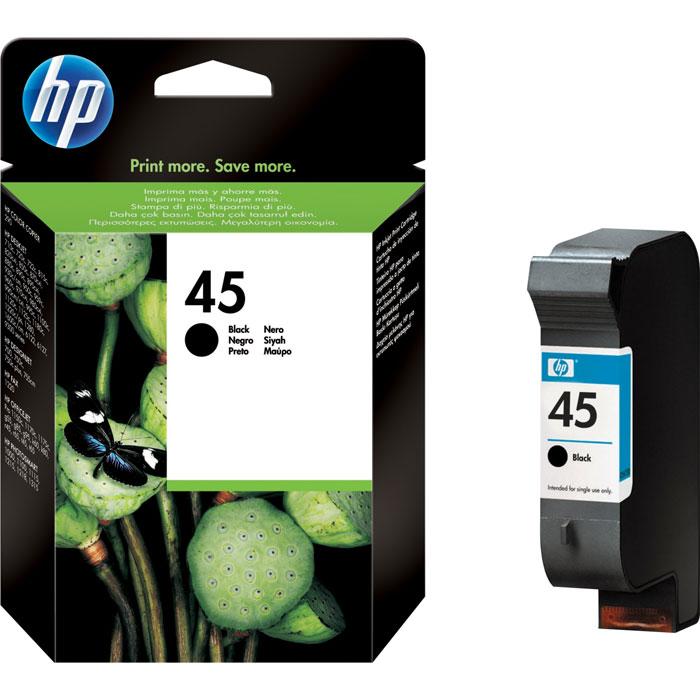 HP 51645AE (45), Black струйный картридж51645AEБольшой черный струйный картридж HP 45 для принтеров HP Desk Jet DesignJet.