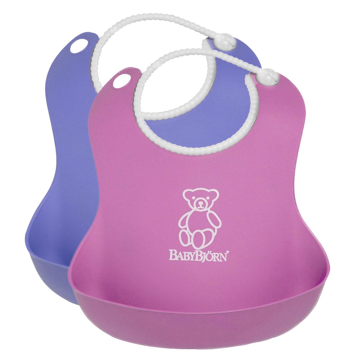 """Комплект нагрудников """"BabyBjorn"""", цвет: розовый, сиреневый, 2 шт"""