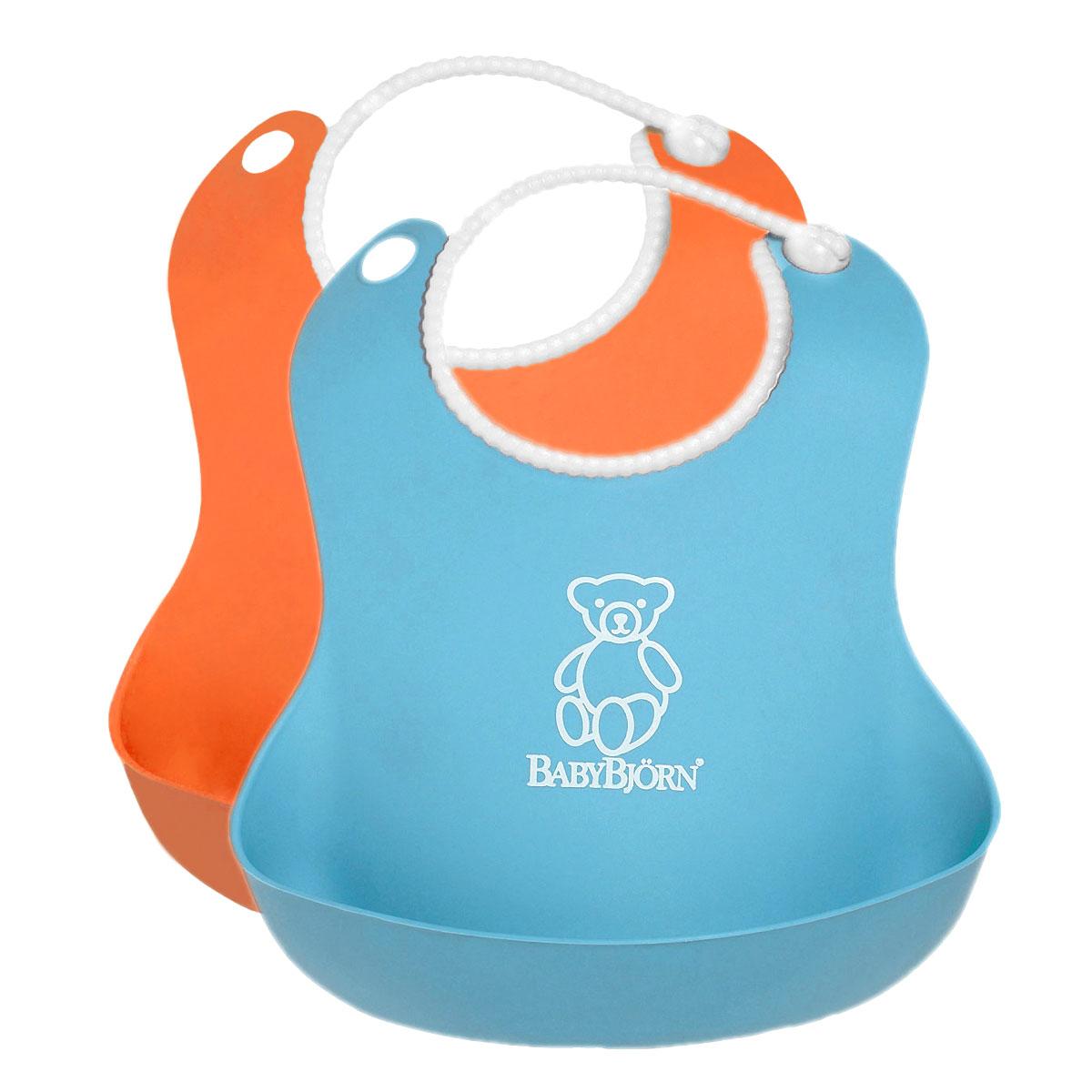 Комплект нагрудников  BabyBjorn , цвет: оранжевый, бирюзовый, 2 шт - Все для детского кормления