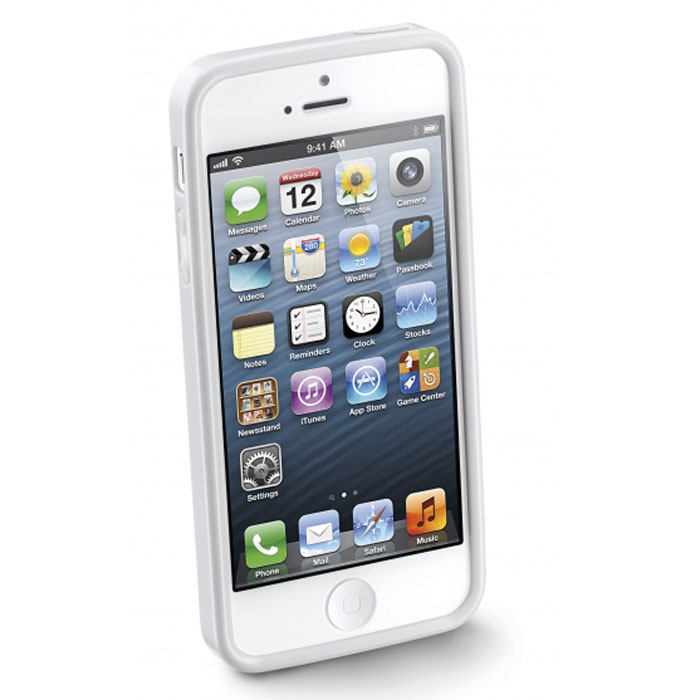 Cellular Line Shocking Case чехол для iPhone 5, White cellular line book agenda чехол для iphone 6 white 21832