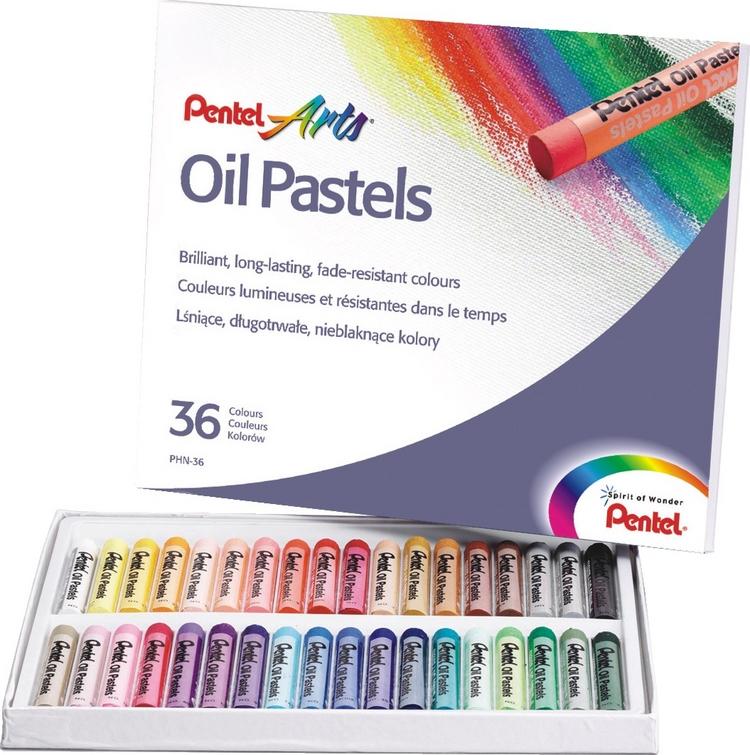 Пастель масляная Pentel  Oil Pastels , 36 цветов. PHN-36 -  Мелки и пастель