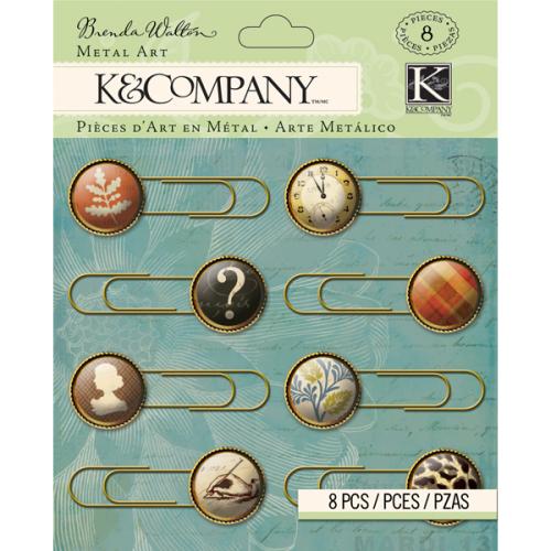 Скрепки-украшения  K&Company , 8 шт -  Скрепки, кнопки, зажимы