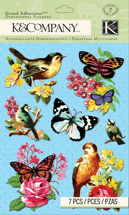 Стикеры-украшения K&Company Цветы и бабочки, 7 штKCO-30-663077Стикеры-украшения K&Company Цветы и бабочки прекрасно подойдут для оформления творческих работ в технике скрапбукинга. Их можно использовать для украшения фотоальбомов, скрап-страничек, подарков, конвертов, фоторамок, открыток и т.д. В наборе - 7 украшений разной формы и дизайна (цветы, бабочки), выполненные из кардстока и декорированные блетсками и стразами.Скрапбукинг - это хобби, которое способно приносить массу приятных эмоций не только человеку, который этим занимается, но и его близким, друзьям, родным. Это невероятно увлекательное занятие, которое поможет вам сохранить наиболее памятные и яркие моменты вашей жизни, а также интересно оформить интерьер дома.Материал: кардсток.Комплектация: 7 шт.