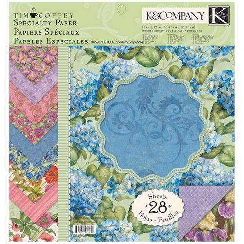 "Набор бумаги для скрапбукинга K&Company ""Сад"", 30,5 см х 30,5 см, 28 листов"