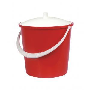 Ведро Альтернатива Крепыш, с крышкой, цвет: красный, белый, 5 лК341Ведро Альтернатива Крепыш изготовлено из высококачественного цветного пластика. Оно легче железного и не подвергается коррозии. Ведро оснащено ручкой для удобной переноски и крышкой. Такое ведро станет незаменимым помощником в хозяйстве. Диаметр (по верхнему краю): 22 см.Высота (без учета крышки): 20,5 см.