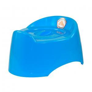 Горшок детский Малышок голубой,М1324Горшок детский Малышок голубой, Пластик