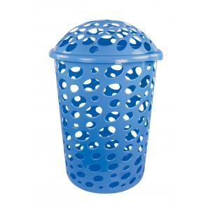 Корзина45л д/белья Соренто голубойМ1697Корзина45л д/белья Соренто голубой Пластик