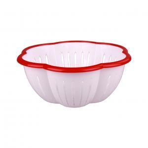 Дуршлаг Восторг, цвет: красный, 3 лМ2736Дуршлаг Восторг выполнен из высококачественного цветного пластика и имеет круглую форму с отверстиями на дне и на стенках. Дуршлаг предназначен для слива воды и мытья продуктов питания. Дуршлаг Восторг станет незаменимым атрибутом на кухне каждой хозяйки. Диаметр (по верхнему краю): 26,5 см.Высота стенок: 10 см.Объем: 3 л.