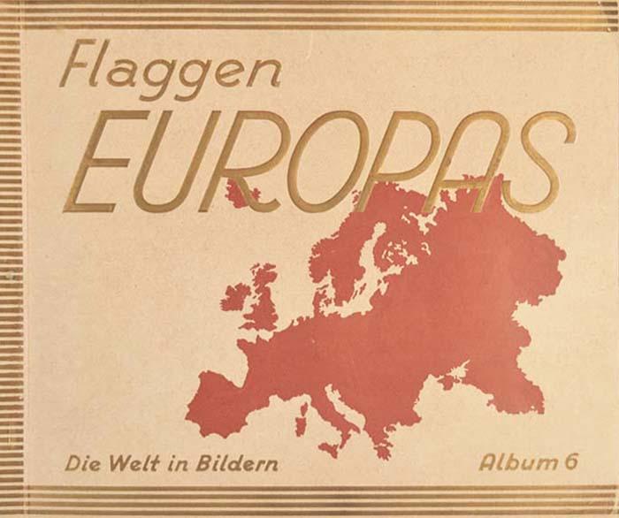 Флаги стран Европы. Книга-альбомAM0012-2На немецком языке. Издано в Германии, 1929 год.200 цветных наклеек, 8 географических карт в лист.Сохранность очень хорошая. Все наклейки на месте. Полный комплект.Книга-альбом Флаги стран Европы представляет собой иллюстрированное издание, в котором собраны 200 флагов европейских стран. Каждый флаг сопровождается подписью. Издание дополнено географическими картами.