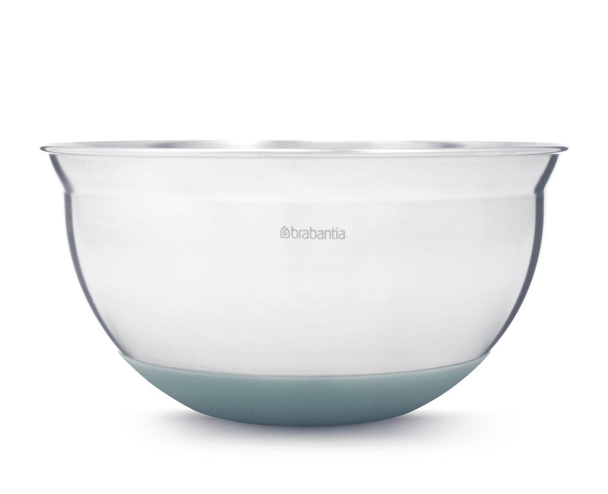 Салатник Brabantia, цвет: мятный, 1,6 л. 364389364389Устойчивость и отсутствие царапин на поверхности стола – основание с нескользящим покрытием.Подходит для смешивания горячих ингредиентов – термостойкое покрытие (220°С).Удобная в использовании – мерные деления на внутренней поверхности. Прочная и удобная в очистке – изготовлена из нержавеющей стали.