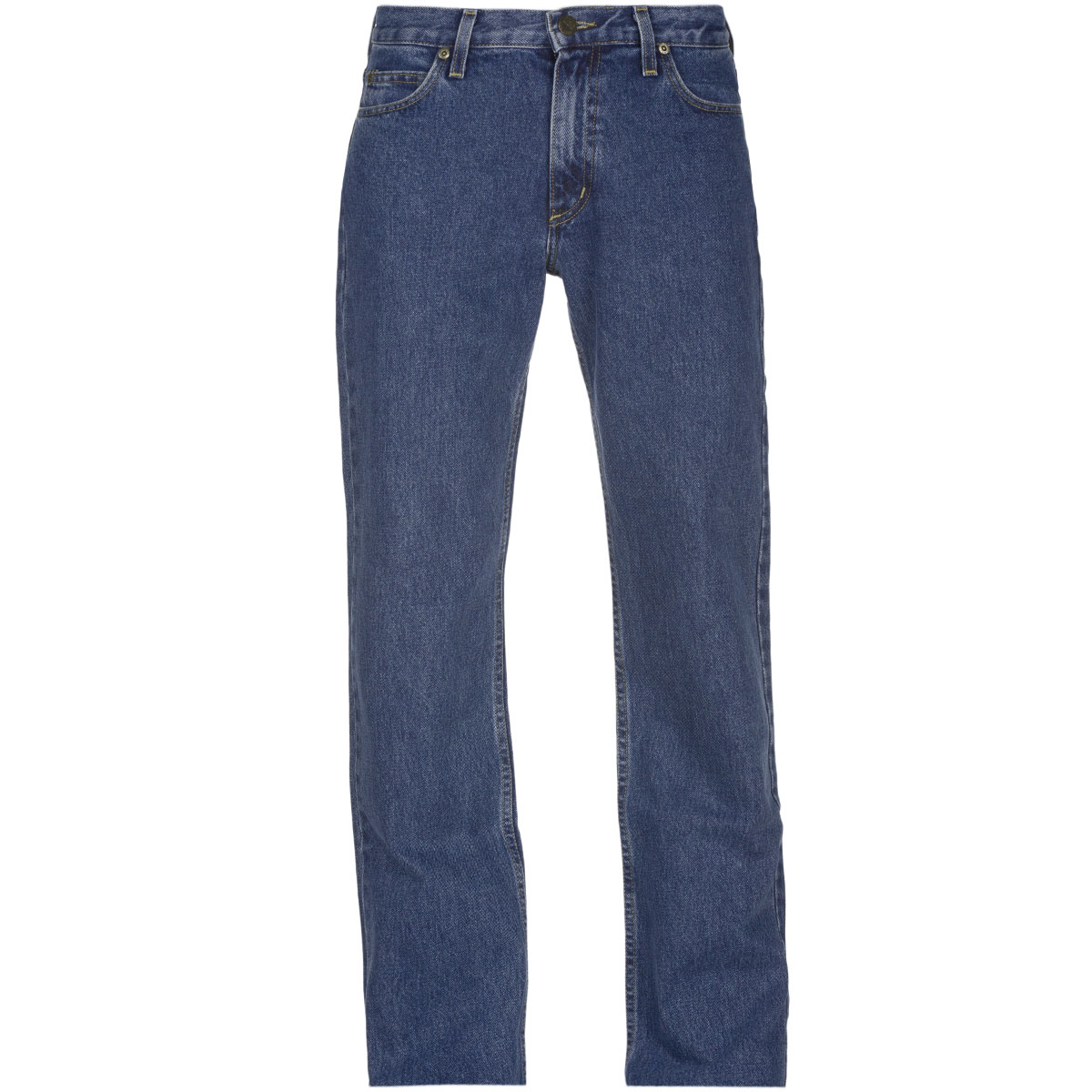 Джинсы мужские Lee Brooklyn Comfort, цвет: синий. L8124446. Размер 36-32 (52-32)L8124446Стильные мужские джинсы Lee Brooklyn Comfort - джинсы высочайшего качества на каждый день, которые прекрасно сидят. Модель прямого кроя и средней посадки изготовлены из высококачественного материала, не сковывают движения. Застегиваются джинсы на пуговицу и ширинку на застежке-молнии, имеются шлевки для ремня. Спереди модель оформлены двумя втачными карманами и одним небольшим секретным кармашком, а сзади - двумя накладными карманами.Эти модные и в тоже время комфортные джинсы послужат отличным дополнением к вашему гардеробу. В них вы всегда будете чувствовать себя уютно и комфортно.