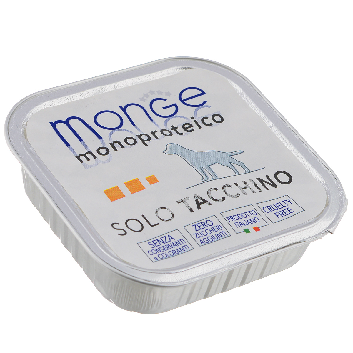 Консервы для собак Monge Monoproteico Solo, паштет из индейки, 150 г консервы для собак titbit raf паштет с кроликом 100 г