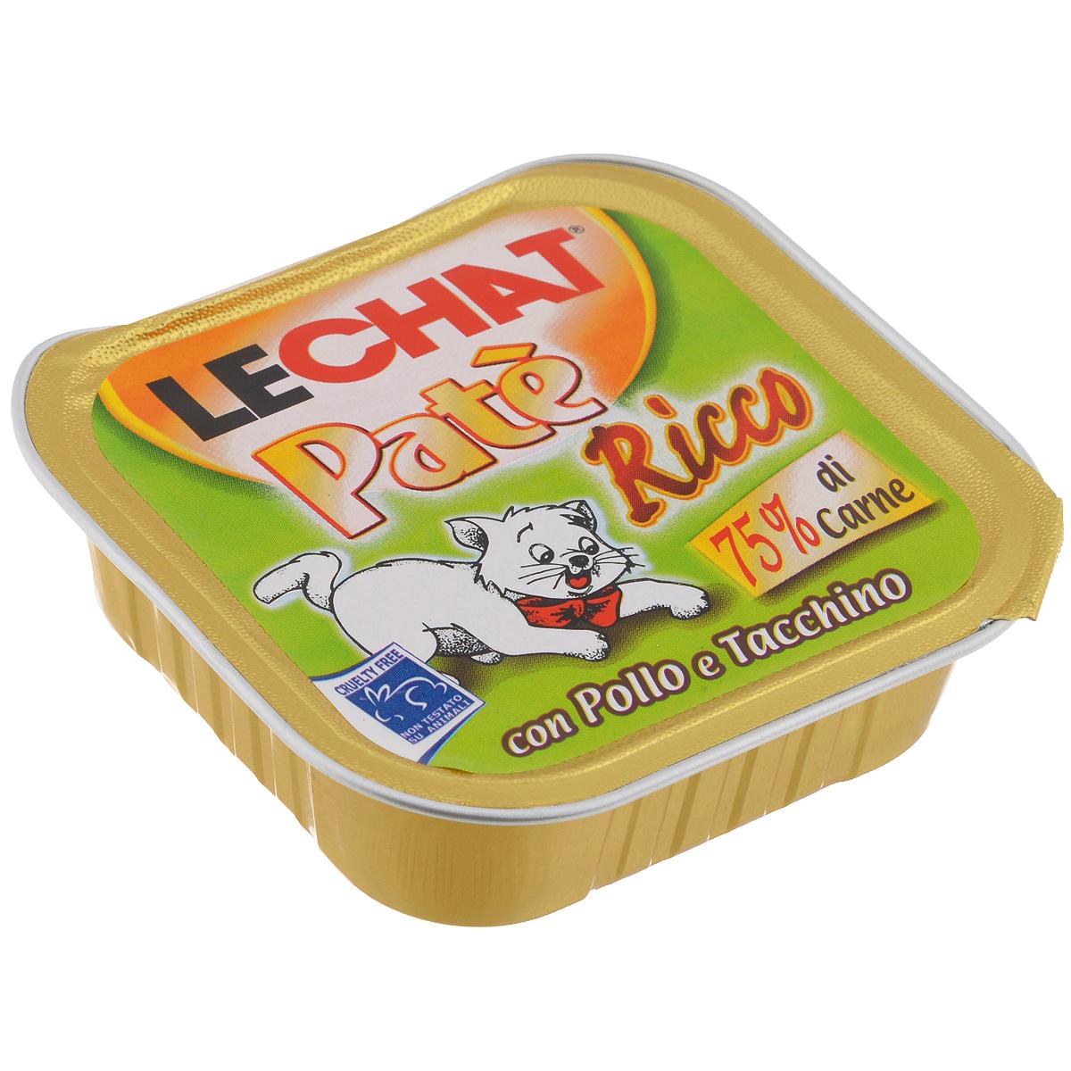 Консервы для кошек Monge Lechat, с курицей и индейкой, 100 г