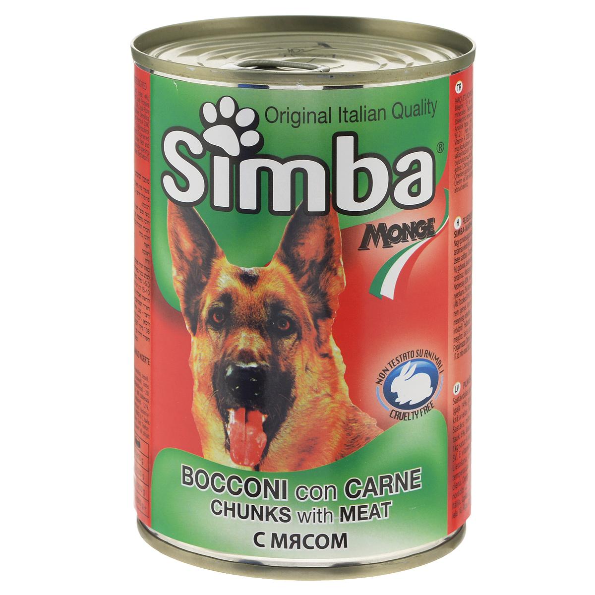 Консервы для собак Monge Simba, кусочки с телятиной, 415 г