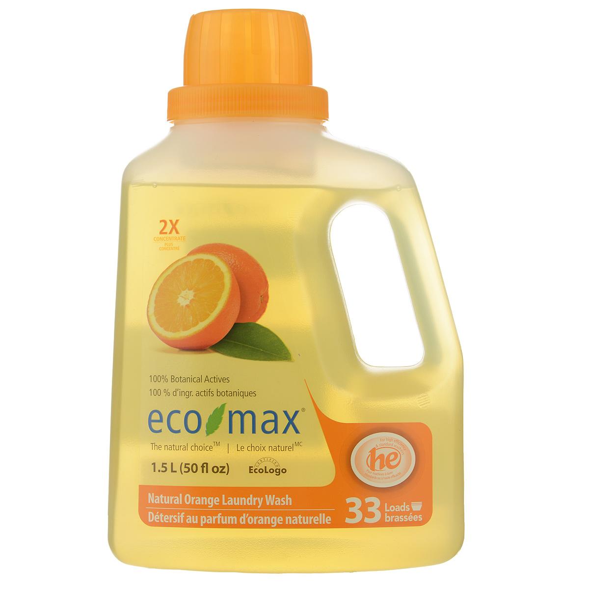 Жидкое средство для стирки Eco Max  Апельсин , концентрированное, 1,5 л - Бытовая химия