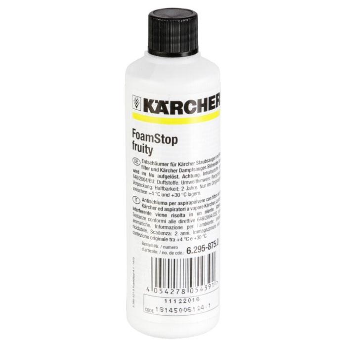 Пеногаситель Karcher Fructasia, 125 мл6.295-875.0Пеногаситель Karcher Fructasia применяется для пылесосов с водяными фильтрами и с паровыми пылесосами, во время работы которых в емкости с водой образуется слишком много пены. Использование данного средства защищает и увеличивает срок службы промежуточного фильтра.Состав: ароматизаторы.Как выбрать качественную бытовую химию, безопасную для природы и людей. Статья OZON Гид