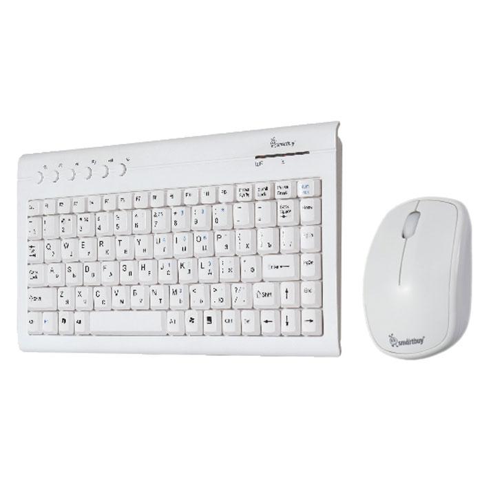 Smartbuy SBC-20313AG-W, White клавиатура + мышьSBC-20313AG-WSmartBuy 20313AG - это беспроводной комплект, состоящий из клавиатуры и мыши. Энергоэффективная технология позволяет работать долгое время на одном комплекте батареек. Компьютерная мышь высокого разрешения подходит как для игр, так и для офисной работы.