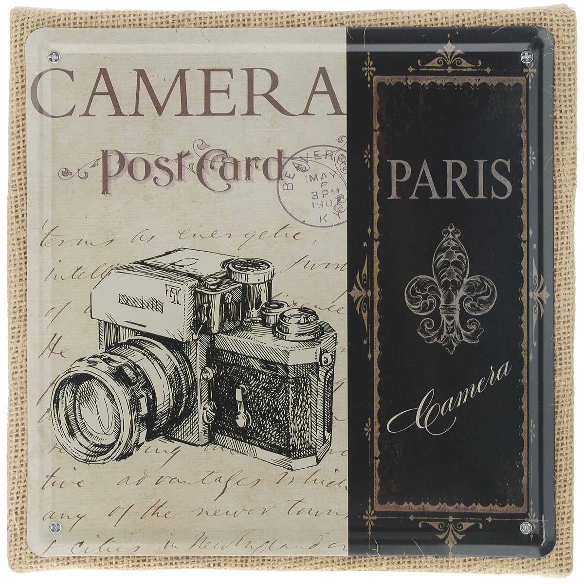 Постер в рамке Феникс-презент Фотоаппарат, 20 х 20 см фотоаппарат