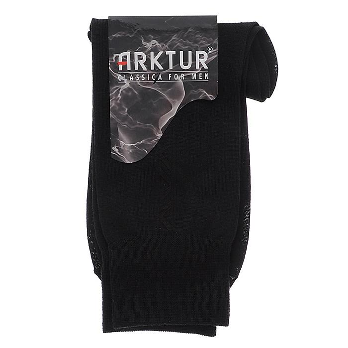 Носки мужские Arktur, цвет: черный. Л 505_16. Размер 44/45Л 505_16Мужские носки Arktur с удлиненным паголенком изготовлены из высококачественного сырья европейского производства в соответствии с мировыми стандартами качества. Комфортная широкая резинка не сдавливает и комфортно облегает ногу. Обладают повышенной прочностью, благодаря усиленной пятке и мыску.