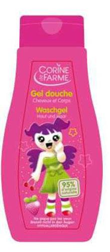 Corine De Farme Гель для душа детский, для тела и волос, с ароматом  Клубника , для девочек, 250 мл -  Все для купания