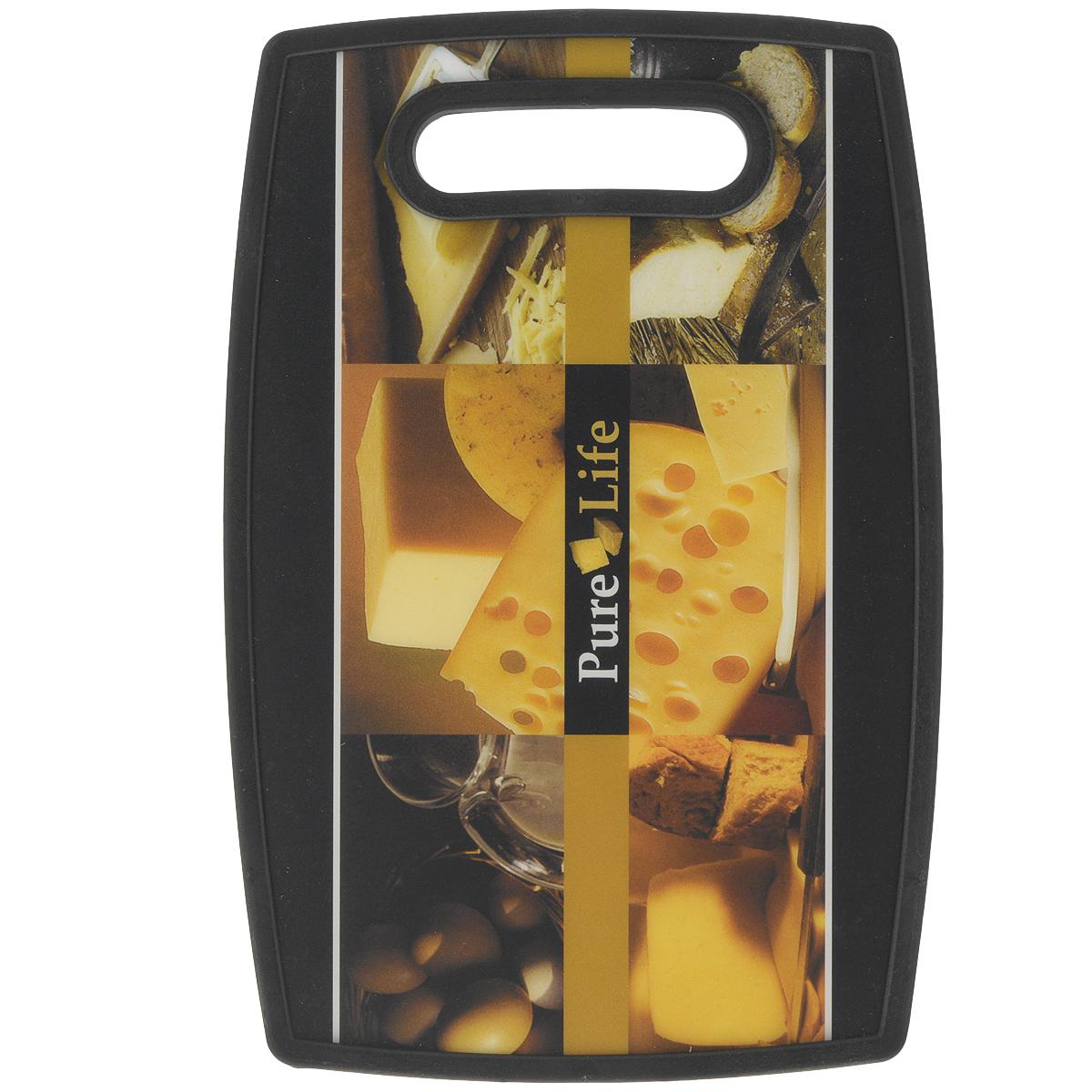 Доска разделочная LaraCook Сыр, 23 см х 37 смLC-1121Доска разделочная LaraCook Сыр, изготовленная из устойчивого к истиранию пластика, займет достойное место среди аксессуаров на вашей кухне. С одной стороны доска имеет однотонное бамбуковое покрытие, а с другой декорирована изображением сыра.Доска имеет высокий коэффициент жесткости и прекрасно подойдет для нарезки любых продуктов. Устойчива к деформации и высоким температурам.