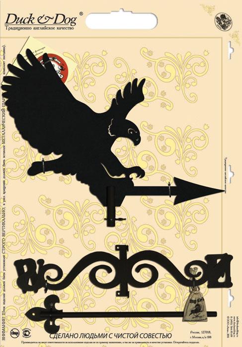 Флюгер Duck & Dog Орел, 49 х 97 смБФ.70003Флюгер Duck & Dog Орел изготовлен из сплавов прочных металлов и покрыт специальной порошковой краской, что гарантирует долговечность срока службы. Флюгер поворачивается под воздействием ветра, а также указывает его направление. Такой метеоприбор отличается заметным изяществом. Флюгера - это украшение дома, некий элемент декора. Также их помещают на любые загородные сооружения, бани, беседки и т.д. В комплекте крепежные элементы.Размер фигурной части: 52 см х 40 см.