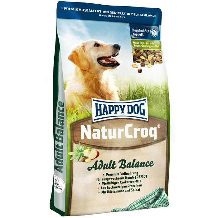 Корм сухой Happy Dog Natur Croq Balance для активных взрослых собак, 15 кг пудовъ мука пшеничная обойная цельнозерновая 1 кг