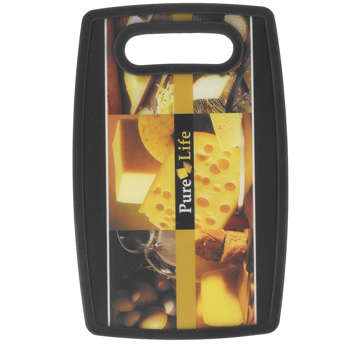 Доска разделочная LaraCook Сыр, 16 см х 25 смLC-1123Доска разделочная LaraCook Сыр, изготовленная из устойчивого к истиранию пластика, займет достойное место среди аксессуаров на вашей кухне. С одной стороны доска имеет однотонное бамбуковое покрытие, а с другой декорирована изображением сыра.Доска имеет высокий коэффициент жесткости и прекрасно подойдет для нарезки любых продуктов. Устойчива к деформации и высоким температурам.